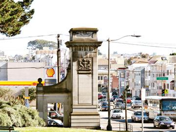 Image result for entrance to the golden gate park 1871